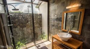 salle de bain vitrée location saisonnière