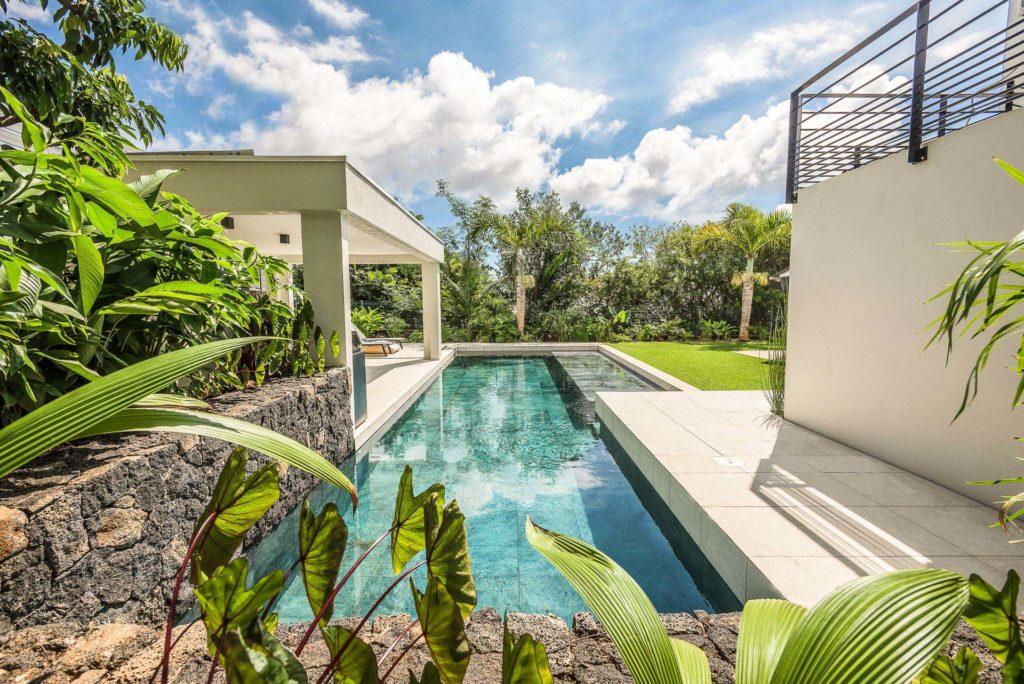 photo d'architecture jardin villa